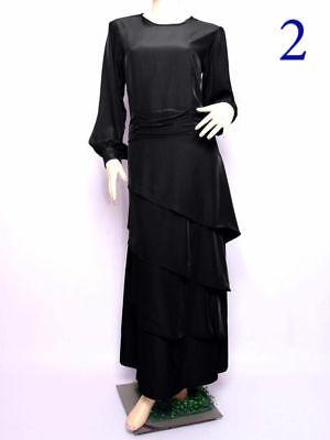 Womens Modest Dress Plain Abaya Burqa Kaftan Farasha Jilbab Ladies .Maxi Dress