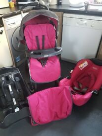 Graco Candy Rock Travel System, suitable from birth.