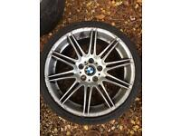 "BMW 3 Series 19"" alloys with tyres!"