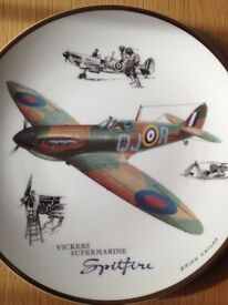 Royal Doulton Vickers Supermarine Spitfire Legends of the Sky Plate. Limited Edition.