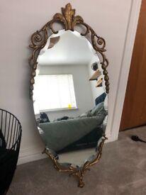 Beautiful Cast Iron Vintage Mirror