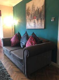 Grey ikea 3 seater sofa