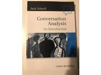 Conversation Analysis an Introduction. Jack Sidnell