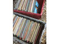 2 large boxes of vinyl LPs & rock/roll 78
