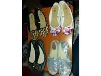 Size 6 bundle of ladies shoes