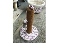 Kitten/Cat Bed, Toys and matching Scratch Post
