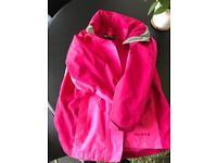 Waterproof jacket with integral fleece