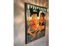 Balinese Oil paintings - set of 3