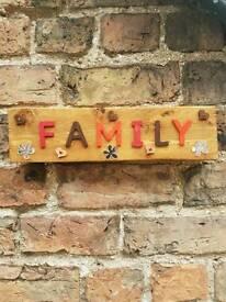 Handmade plaque