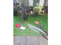 FULL SET MEN'S VINTAGE SWILKEN GOLF CLUBS + DUNLOP GOLF BAG + GOLF BALLS + BRAND NEW KANGOL GOLF CAP