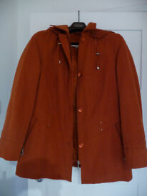 Cotswold Collection Ladies Padded Jacket - coral/rust colour size 14 - very good condition