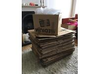 46 Medium Size Heavy Duty Packing Boxes