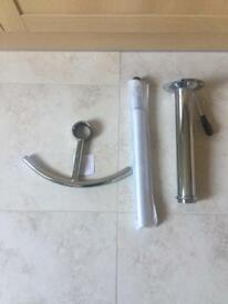 Bar/Kitchen stool gas lift and foot rest