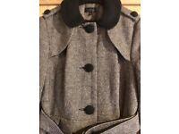 Tweed coat size 12.