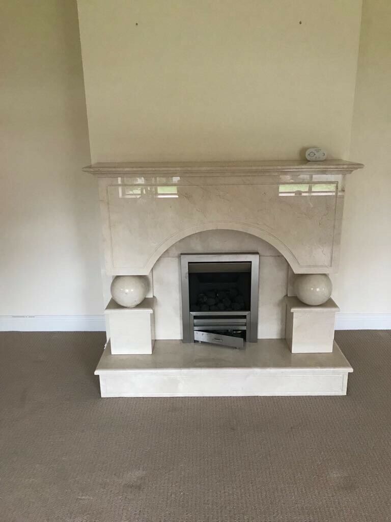Beautiful fire surround and gas fire