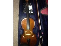 Violin With Case and Bow - 4/4 size