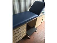 Adjustable Massage / Medical / Beauty Bed And Footstool. Excellent Condition. Can Deliver.