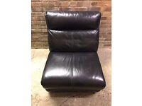 Single Black Leather Armchair