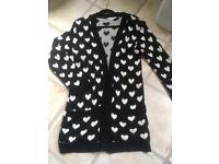 Black heart cardigan