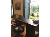 Beautiful solid oak writing desk