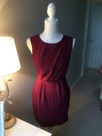 Lovely Burgandy TOPSHOP Dress