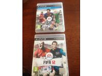 Ps3 Fifa 12 and Fifa 13 games