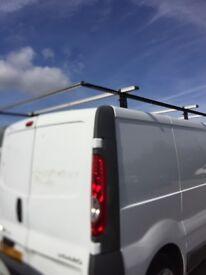 Vauxhall Vivaro Renault Trafic SWB 01-14 Van guard roof rack bars and rear loading roller