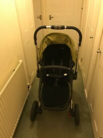 Good clean condition Mothercare Spin Pramette Green