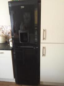 Beko fridge freezer black