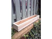 NEW WOODEN FLOWER BOXES, WINDOW BOX PLANTERS, MANY SIZES/COLOURS,TREATED PLANTERS, QUALITY HANDMADE