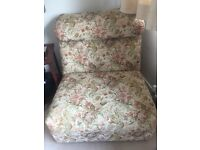 Comfortable uphoasted bedroom chair