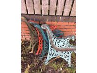 1 Set Of Cast Iron Garden Bench Ends £17.50 Largest Reclaimed Selection In North- DELIVERY AVAILABLE
