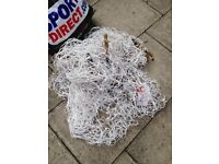 Full size goal net 24x8ft for sale 3mm thickness X2