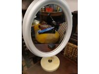 1960 oval mirror