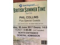 Phil Collins 30th June British summer time