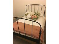 Ikea Black Metal Double Bed Frame