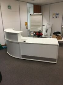 OFFICE FURNITURE RECEPTION TABLE WHITE
