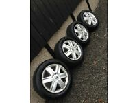 """Renault Megane Alloy Wheels 16"""" With tyres Like new"""