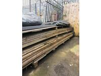 15ft lengths of wooden timber slates