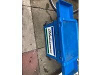 Shakespeare fishing box blue with octopus and side trays and shoulder strap