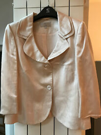 Viscose/Linen jacket in light pink from CC petite, UK size 14