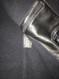 Orciani Nappa Leather Bomber Jacket 54