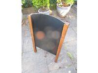 A BOARD,, blackboard / chalkboard , retro advertising board