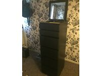 Bargain Chest of 6 drawers with mirror glass!