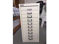 10 Drawer Metal Filing Cabinet - Light Grey