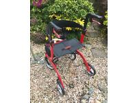 Drive Nitro 4 wheeled Rollator walking frame Mobility Aid Adjustable.