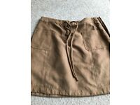 Hollister suede skirt