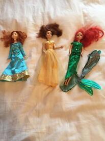 Barbie Disney Princess dolls x3