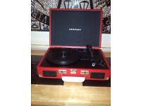 Vinyl Record Player in Red new with box and Aviccii double album