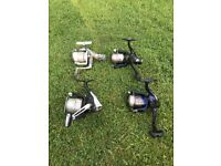 A selection of rods and reels